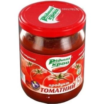 Паста томатная Родной край 15% 485г - купить, цены на Novus - фото 3
