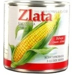 Vegetables corn Zlata canned 425g can Ukraine