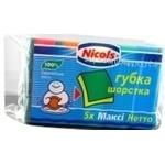 Губка Николс для мытья 5шт макси Польша