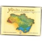 Candy Zhytomurski lasoschi Ukraina z lyubovyu chocolate with filling 390g packaged Ukraine