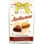 Цукерки в чорному шоколаді з горіхами Любімов 105г