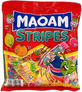 Candy Haribo Maoam stripes jelly 250g flow-pack Germany