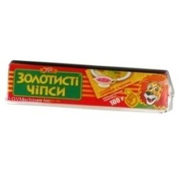 Чипсы Жайвир Золотистые картофельные со вкусом холодца с хреном пластинки 100г Украина