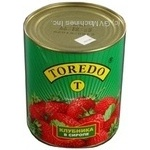 Fruit strawberry in syrup 850ml can