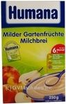 Pap Humana rice fruit for children 250g cardboard box Germany