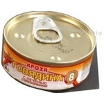 Canned meat Krokha Pureed beef and liver for 8+ month old babies can 100g Belarus