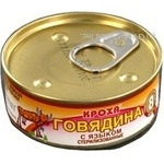 Meat Krokha meat canned 100g can Belarus