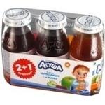 Сок Агуша яблоко-вишня для детей 150мл стеклянная бутылка