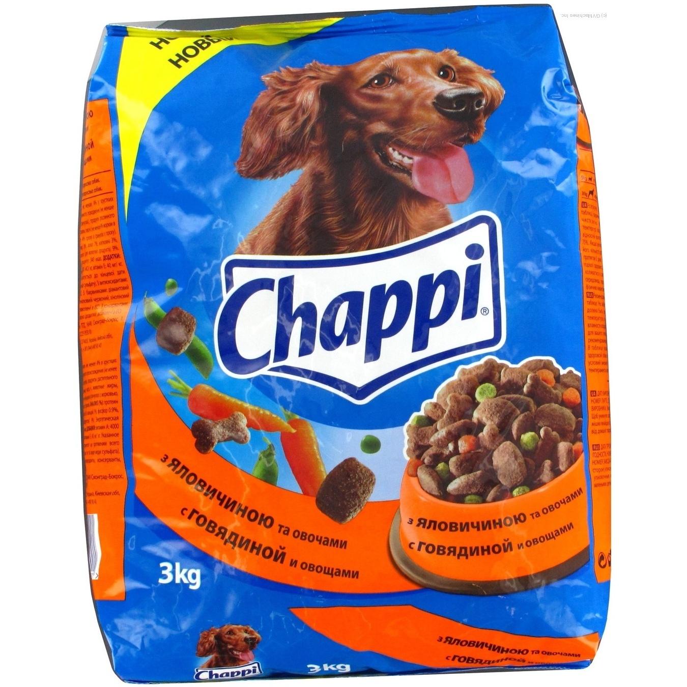 Корм д собак ялович овочі chappi 3кгх4