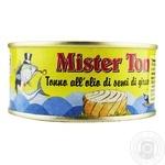 Тунец Mister Ton в подсолнечном масле 160г
