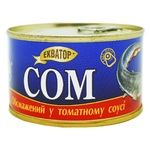 Сом Экватор обжаренный в томатном соусе 230г