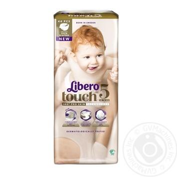 Подгузники Libero Touch 5 10-14кг 44шт - купить, цены на Восторг - фото 1