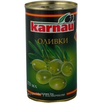 Оливки Karnau з/к 350г