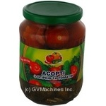 Vegetables tomato Dar polya vegetable canned 680g glass jar Ukraine