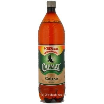 Пиво Сармат Світле пастеризоване пластикова пляшка 4.4%об. 1250мл Україна