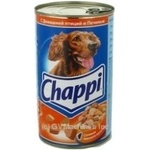 Conserve Chappi meat canned for dogs 1200g can Austria