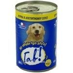 Conserve Gav meat in sauce for dogs 415g can France