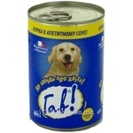 Консерва Гав мясная консервированная для собак 415г железная банка Франция