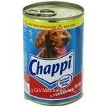 Conserve Chappi with beef for dogs 400g can Russia