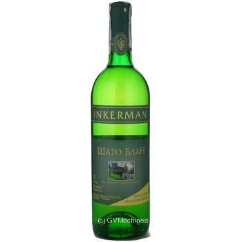 Вино белое Инкерман Шато Блан ординарное столовое купажированное полусухое 12% 750мл