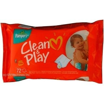 Серветки дитячі Pampers Naturally Clean 64шт