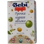 Каша детская молочная Беби Премиум гречка курага яблоко 250г Словения