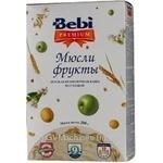 Dry instant dairy-free porridge Bebi Premium muesli with fruits 5 cereals for 9+ month babies 10 portions 200g  Slovenia