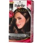 Крем-фарба для волосся Palette Deluxe P706 Благородний Темно-Каштановий
