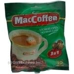 Instant coffee drink MacCofee Hazelnut 3in1 with coffee extract 18g Singapore