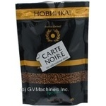 Natural instant sublimated coffee Carte Noire 80g Russia