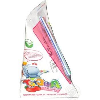 Коктейль молочний Тотоша Дитячий з полуницею 200г