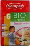 Каша молочна пшенична Semper з фруктами БІО з 6-ти місяців 250г
