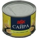 Fish saury B&k in oil 240g can Poland