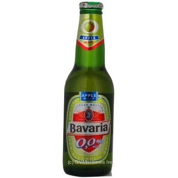 Пиво Бавария яблоко светлое 250мл стеклянная бутылка Голландия