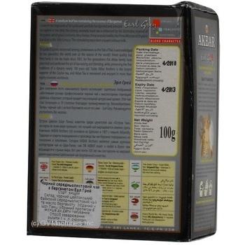 Чай черный Akbar Earl Grey 100г - купить, цены на МегаМаркет - фото 2