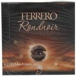 Candy Ferrero Ferrero rondo nuar chocolate with filling 120g packaged Italy