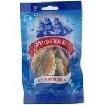 Snack scad Morskie salted dried 20g Ukraine
