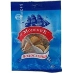 Snack yellow balaenoptera Morskie yellow salted dried 36g Ukraine