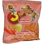 Сухари Три корочки ржаной со вкусом сыра 40г Украина