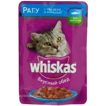 Whiskas With Salmon In Sause For Adult Cats Food - buy, prices for Furshet - image 6