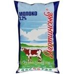 Milk Yagotynsky pasteurized 3.2% 1000ml sachet Ukraine