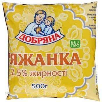Ряжанка Добряна 2.5% 450г плівка Україна