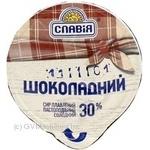 Сыр Славия Шоколадный плавленый пастообразный сладкий 30% 100г