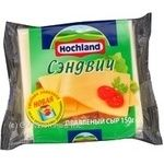 Cheese Hochland Sandwich processed 45% 150g vacuum packing Russia