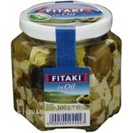 Soft ripened cheese cubes in oil with olives Kaserei Champignon Fitaki 45% 300g Germany