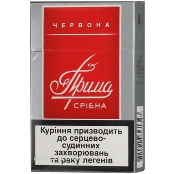 Сигареты Прима Серебряная красная - купить, цены на Фуршет - фото 2