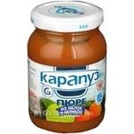 Пюре Карапуз из яблок и абрикосов детское с 2 месяцев 200г