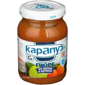 Скидка на Пюре Карапуз из яблок и абрикосов детское с 2 месяцев 200г