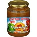 Puree Rumyanye shchechki apricot for children 250g Ukraine