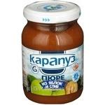 Пюре Карапуз Яблоко-Слива с сахаром для детей с 2 месяцев стеклянная банка 200г Украина